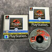 The Lost World Jurassic Park PS1 PlayStation 1 PAL Game Complete EA Classics