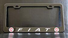 "Black ""FIAT"" License Plate Frame, Custom Made of Powder Coated Metal"