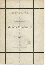 Associazione Della Stampa-Commemorazione di Marco Minghetti-1887-CRISPI-BONGHI