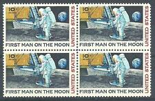 US 1969 Sc# C76 set Airmail First man on the Moon block 4 MNH