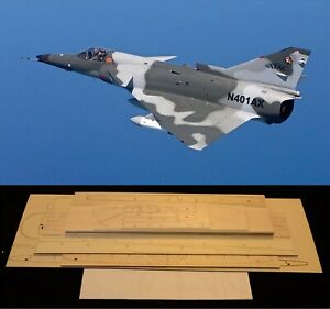 43 in. wing span I.A.I KFIR-C2/F21 R/c Plane short kit/semi kit and plans