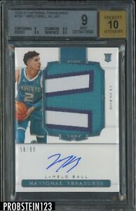 2020-21 National Treasures #130 Lamelo Ball RC Patch RPA /99 BGS 9 w/ 10 AUTO