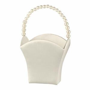 Ivory or white  Flower Basket Flower Girl Basket wedding basket