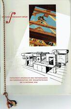 Druckerei Fortschritt Erfurt Festschrift Fertigstellung der Reorganisation 1956