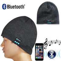 Warm Beanie Hat Wireless Bluetooth Smart Cap Headset Headphone Speaker Mic New Z