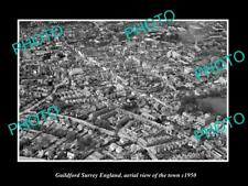 OLD LARGE HISTORIC PHOTO OF GUILDFORD SURREY ENGLAND, VIEW OF THE TOWN c1950 2
