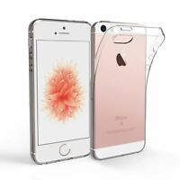 Custodia Cover Case ultra slim per Apple Iphone 5 5S SE in silicone trasparente