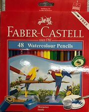 Faber Castell Lápices de Color de agua Colorante Conjunto de 48-Libre Brush & Sacapuntas