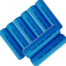 8pcs IFR 18650 1200mAh 3.2V LiFePo4 Rechargeable Battery