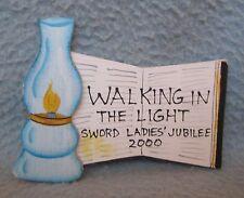 Walking In The Light Sword Ladies Jubilee 2000 Wood Magnet Souvenir Refrigerator