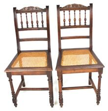 A pair of Victorian Carved Mahogany Dining Chairs - FREE Shipping  [ PL-4492 ]