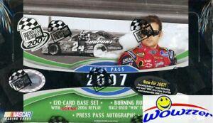 2007 Press Pass Nascar Racing HUGE Factory Sealed HOBBY Box-168 Cards!