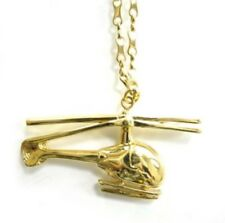 Stunning Auth. LOUIS VUITTON  Gold Toned Helicopter Statement Necklace!