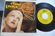 "CYNDI LAUPER 45T PROMO MONOFACE PRESSAGE ESPAGNE. HOLE IN MY HEART. 7"" ONE SIDE"