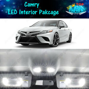 White LED Interior Lights Package Kit For 2007-2017 2018 2019 2020 Toyota Camry