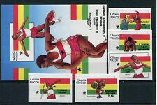 kompl.ausg. Ghana 686a-689a Postfrisch 1977 Olympia