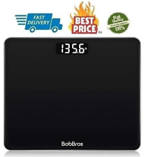 Digital Body Weight Bathroom Scale Smart with Step on Technology High Precision