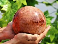 """Large 6"""" Golden Healer Quartz Crystal Chakra Healing Energy Reiki Stone Sphere"""