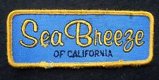 """SEA BREEZE OF CALIFORNIA EMBROIDERED PATCH CLOTHING ADVERTISING 4 1/2"""" x 1 3/4"""""""