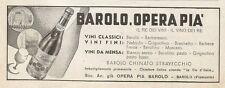 Y0188 Vino Barolo chinato stravecchio - Pubblicità 1937 - Advertising