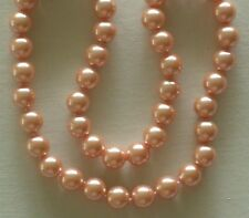 """10MM Peachy Keen Golden South Sea Shell Pearl Necklace 18"""" NEW (silk gift bag)"""