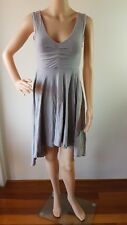METALICUS Ladies Grey Fitted Lined Sleeveless Knee Length Dress One Size  EUC
