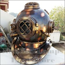 Brass Antique Diving Full Size Divers Helmet Marine Navy Deep Sea Diver Vintage