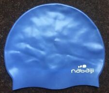 fc5a4b5838 Nabaiji Silicone Swimming Cap Blue Teenager Adult Mens Ladies Male Female  Swim