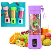 Mini Blender USB Rechargeable Batteries Juicer Cup Portable Bottle With 2 Blades