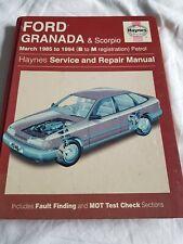 Haynes Manual Ford Granada And Scorpio 1985- 1994 Petrol