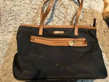 Michael Kors Nylon Small Tote Black/Brown Barely Used