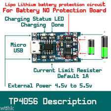 1A 1S Single Cell Lipo Lithium Battery TP4056 DIY Charger Module with Protection