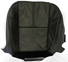 2007-2013 Chevy Avalanche Silverado Passenger Bottom Leather Seat Cover Black