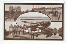 Stranraer Town Hall Piers Harbour Castle 1929 Valentines Old Postcard Unposted