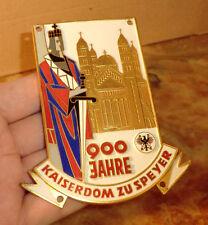 SMALTO TARGA 900 anni a KAISERDOM Speyer 1961 Stella ADAC Viaggio BADGE dr64