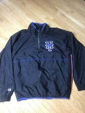 New York Mets Majestic Authentic Collection MLB Baseball Pullover Jacket L Sewn