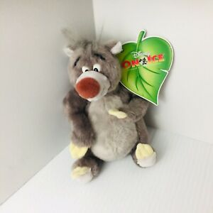"New with Tag Disney On Ice Jungle Book Baloo Beanbag Plush 7"" Excellent"