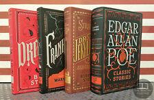 NEW Dracula Stoker Frankenstein Shelley Jekyll Hyde Edgar A Poe Bonded Leather