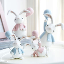 Nordic Handmade Easter Bunny Table Decor Car Dashboard Cake Top Display Ornament