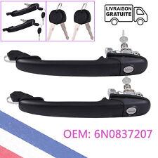 2X Poignée de Porte Extérieure Avant Gauche et Droite pour Ford VW 6N0837207D