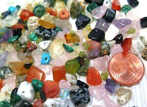 Halbedelsteinmix multicolor  Perlen Splitter Halbedelsteine ungerade gebohrt 50g
