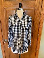 NWT Ralph Lauren RL Utility Lightweight Cotton Shirt Sz XS Blue White Blouse Top