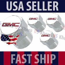 GMC Logo Valves Caps Stems Covers Chromed Wheel Roundel Car Auto Tire Emblem USA