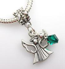 Crystal Angel Dangle Beads made with Swarovski Elements Fits Bracelet PICK COLOR