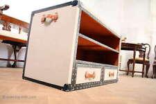 Großer Schrankkoffer Tisch Truhentisch Fernsehtisch Couchtisch Überseekoffer
