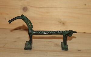 Vintage hand made African Ashanti bronze horse figurine