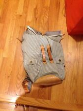 100% Authentic PAUL SMITH Backpack Bag 2WAY HOLDAL With Leather Trims and Bottom
