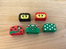 LEGO-5x Printed-Sloped-Rounded-Double-2x4x2- 4744