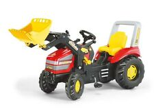 New Ride-on Rolly Toys RED Large Xtrac Pedal Tractor + Loader Age 3-10yrs