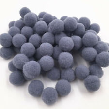100Pcs DIY Pom-Pom Soft Fluffy Balls Embellishments Kids Arts Crafts Gray